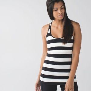 Lululemon Cool Racerback Steep Stripe Black